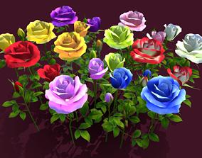 3D asset Flower Rose Madiver