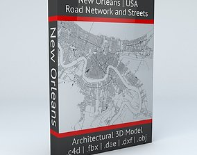 New Orleans Road Network and Streets 3D