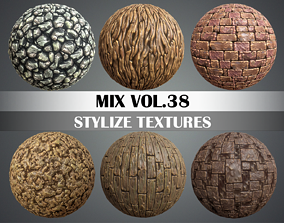 3D model Stylized Ground Mix Vol 38 - Hand Painted