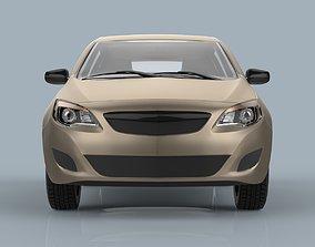 Hatchback car sport 3D