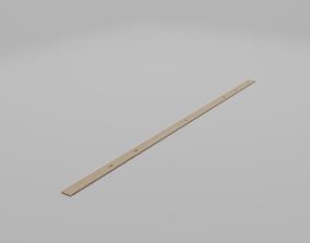 Wooden Meter Stick 3D model
