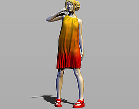 3D print model Girl in sundress