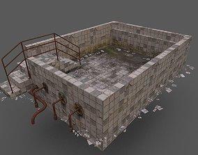 Old Worn Swimming Pool 3D model