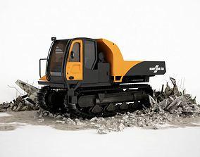 3D model Orange Dump Truck