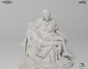 3D model La Pieta Sculpture VR AR Mobile-ready Game-ready
