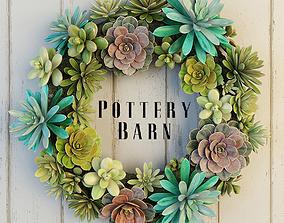 Pottery Barn Succulent Wreath 3D model