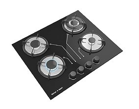 3D model Gas Cooktop no5