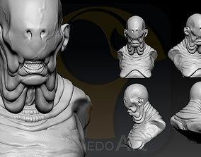 Pale Man Portrait 3D printable model