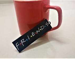 Friends TV Show Keychain FRIENDS Keychain 3D Printable