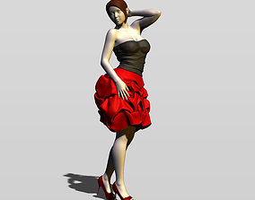 3D printable model Pretty girl in evening dress