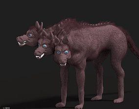 Cerberus the multi-headed dog 3D model