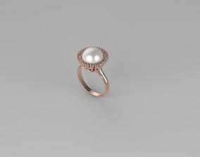 pearl ring 3D printable model luxury