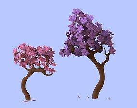 3D model beautiful Japanese sakuras