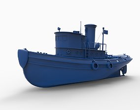 3D printable model Coast Guard Cutter Tug Wire