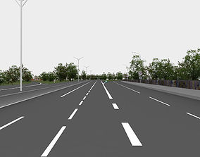 highway navigation 3D road cityblock