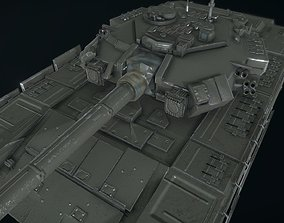 3D model animated Russian Military Vehicles T90