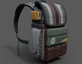 3D asset Human Backpack scifi military