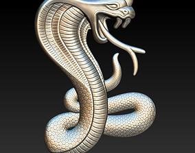 Flat snake logo 3D print model