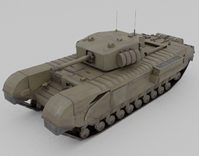 3D model Churchill MK III Infantry Support Heavy Tank