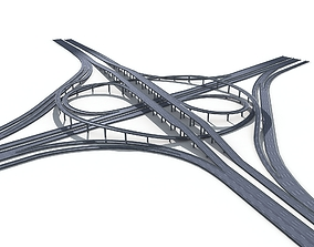 Highway Road Viaduct Flyover-10 3D model