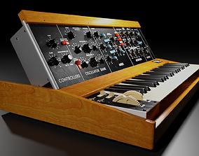 Synthesizer Minimoog Model D 3D