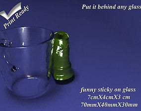 3D print model Funny Sticky on Glass