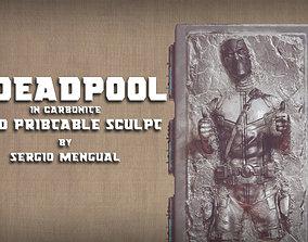 Deadpool in Carbonite 3D Printable Sculpture deadpool