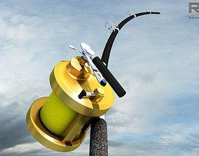 3D model Shimano Fishing Rod and Reel
