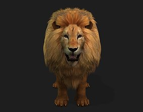 Lion Realistic Character with motion 3D