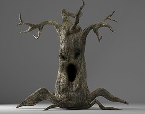 VR / AR ready evil tree halloween 3d model monster