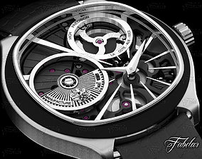 Watch 3D model chronograph