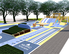 3D model Childrens activity area