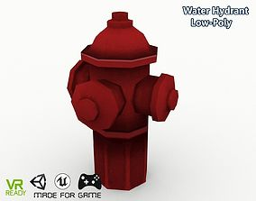 3D asset Water Hydrant Low Poly