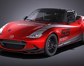 3D Mazda MX-5 2016 CUP Race Car VRAY