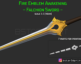 3D printable model Fire Emblem Awakening Falchion Sword 2