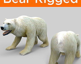 rigged 3D White Beer Rigged Model