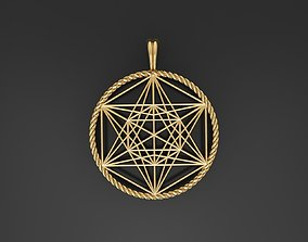 kabbalah Metatron Cube Pendants 3D print model