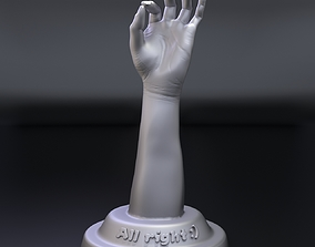 hand with OK gesture 3D printable model