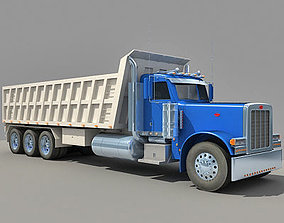 Blue Semi Trailed Truck 3D model