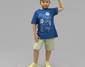 3D model A Fat Boy Standing Alone with Superstar Pose