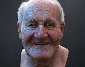 3D Ultra realistic old man HEAD