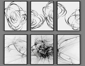 3D asset Abstract art 7