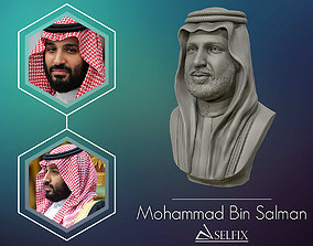 Mohammad Bin Salman portrait sculpture model