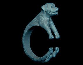 3D printable model Rottweiler ring