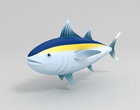 Tuna 3D model nature