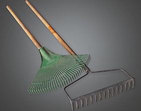 Rake Tool Set TLS - PBR Game Ready 3D model