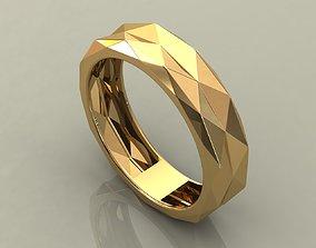 3D printable model 5 Facet Ring sizes