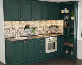 3D Mini classical kitchen