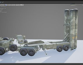 3D model Russian S-400 Triumph Missile and Radar