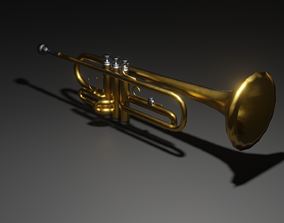 Trumpet 3D Model PBR audio-device
